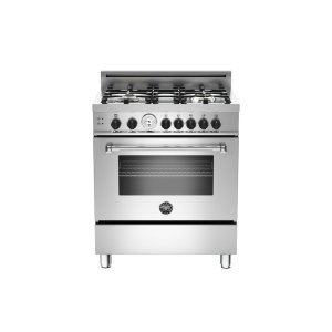 30 4-Burner, Gas Oven Stainless -