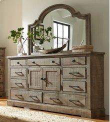 Mirror - Weathered Gray Finish