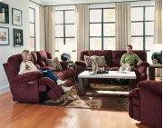 Power Headrest Lay Flat Reclining Sofa Product Image