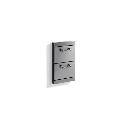 """Utility Drawers - Two full standard drawers w/ 5"""" offset handles"""
