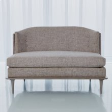 X Back Loveseat-Muslin