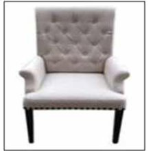 Weber Traditional Smokey Black Upholstered Armchair