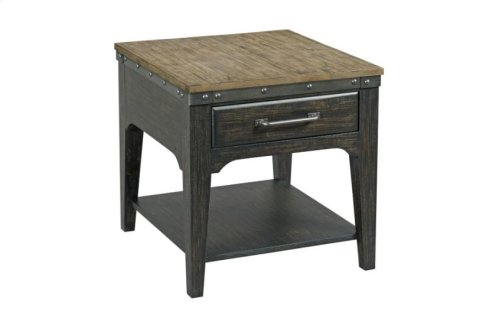 Artisans Rectangular Drawer End Table