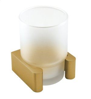 Luna Tumbler Holder A6875 - Satin Brass Product Image