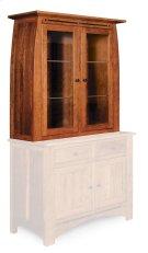 Aspen Closed Hutch Top, Medium, Antique Glass Product Image