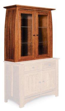 Aspen Closed Hutch Top, Medium, Antique Glass