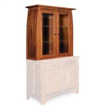 """Aspen Closed Hutch Top, 45 1/2""""w, Antique Glass"""