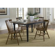 Butterfly Leaf Table - Black & Tobacco
