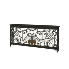 Scrolling Leaves Console Table