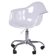 Carl Molded PC Office Chair, Transparent Crystal