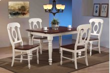 Sunset Trading 5 Piece Butterfly Leaf Dining Table Set with Napoleon Chairs