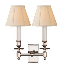 Visual Comfort S2212PN-L Studio French 2 Light 12 inch Polished Nickel Decorative Wall Light in Linen