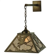 """15.5""""W Strike of the Eagle Hanging Wall Sconce"""