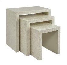 Global Archive Capiz Basket Weave Nesting Tables (set of 3) - Natural