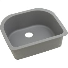 "Elkay Quartz Classic 25"" x 22"" x 8-1/2"", Single Bowl Undermount Sink, Greystone"