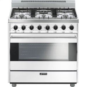 "SmegFree-Standing Gas Range, 36"", White"