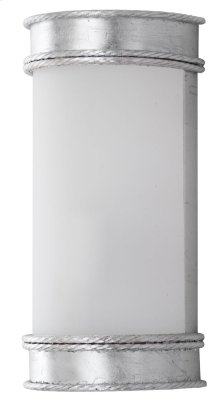 Florence Wall Sconce - Silver Shade Color: White