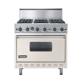 "Oyster Gray 36"" Open Burner Commercial Depth Range - VGRC (36"" wide, six burners)"