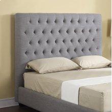 Headboard 5/0 Upholstered Linen/grey