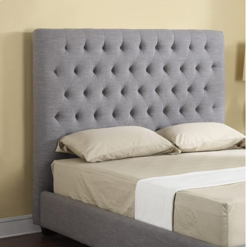 Headboard 6/6 Upholstered Linen/grey
