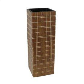"""Light Brown Grid Vase 16"""""""