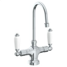 "Deck Mounted 1 Hole Kitchen Faucet With 4 1/2"" Spout"