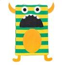 Green Stripe Monster Laundry Bag. Product Image