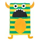 Green Stripe Monster Laundry Bag. Product Image