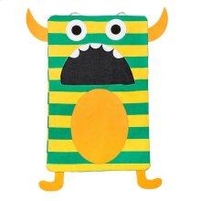 Green Stripe Monster Laundry Bag.
