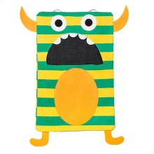 Green Stripe Monster Laundry Bag.