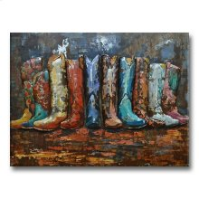 Get On Your Boots 39x29 Metal Art