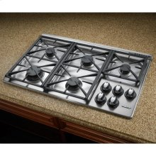 """Renaissance 36"""" Gas Cooktop,, in Stainless Steel with Natural Gas"""