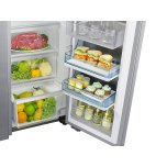 Samsung Appliances 22 cu. ft. Food Showcase Counter Depth Side-by-Side Refrigerator with Metal Cooling in Stainless Steel