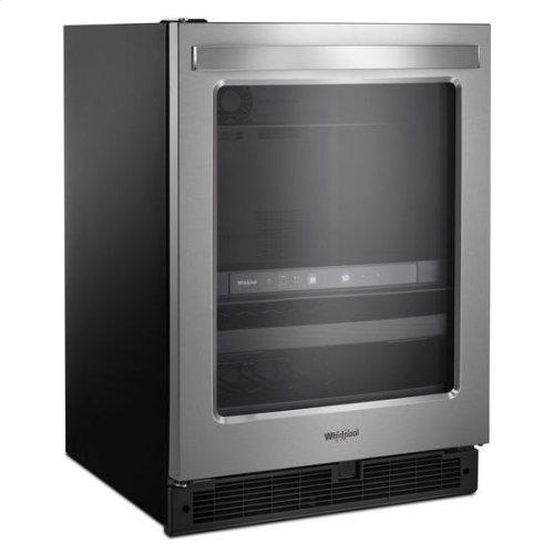 Whirlpool® 24-inch Wide Undercounter Beverage Center - 5.2 cu. ft. - Fingerprint Resistant Stainless Steel