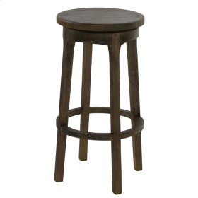 Patti Swivel Counter Stool, Natural Gray