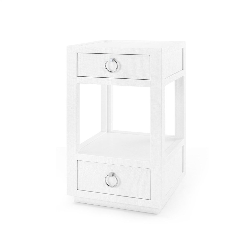 Camilla 2-Drawer Side Table, White