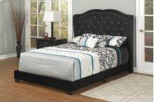 Black Velvet Queen Bed