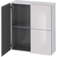 Semi-tall Cabinet, White Lilac High Gloss Lacquer