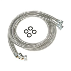 Washing Machine Universal 6' stainless steel hoses with 90(degree) Elbow - 2 hose package -