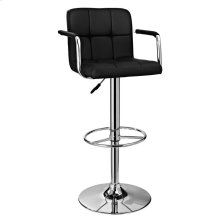 Black and Chrome Quilted Barstool