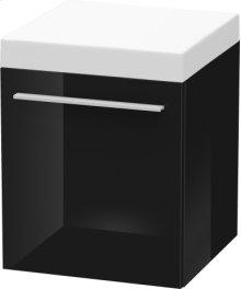 Mobile Storage Unit, Black High Gloss Lacquer