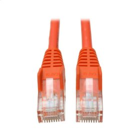 Cat5e 350MHz Snagless Molded Patch Cable (RJ45 M/M) - Orange, 10-ft.