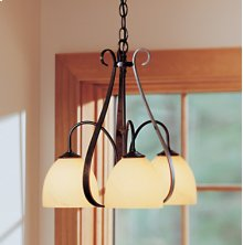 Chandelier: Sweeping Taper with three down lights and glass options.