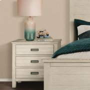 Aberdeen - Three Drawer Nightstand - Weathered Worn White Finish Product Image