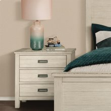 Aberdeen - Three Drawer Nightstand - Weathered Worn White Finish