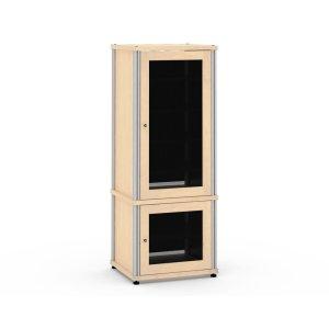 Salamander DesignsSynergy Solution 603, Quad-Width AV Cabinet, Maple with Aluminum Posts