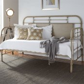 Twin Metal Day Bed - Vintage Cream