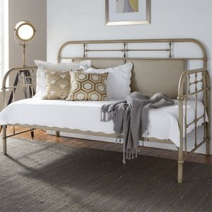 LIBERTY FURNITURE INDUSTRIESTwin Metal Day Bed - Vintage Cream