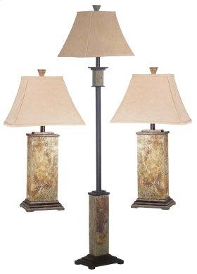 Bennington - 3 Pack - 2 Table Lamps, 1 Floor Lamp