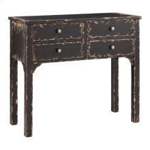 Wilber 4-drawer Console In Black
